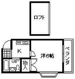 レオパレス岸和田 第3[201号室]の間取り
