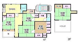 [一戸建] 東京都足立区江北3丁目 の賃貸【/】の間取り