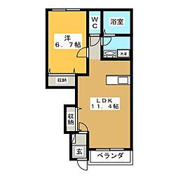 LE MIRAGE[1階]の間取り