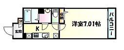 仙台市地下鉄東西線 宮城野通駅 徒歩4分の賃貸マンション 1階1Kの間取り