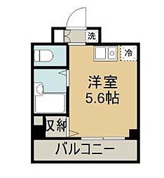 ラフィネ横須賀中央[502号室]の間取り