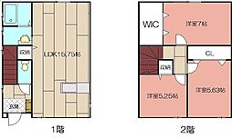 [一戸建] 福岡県北九州市小倉南区葉山町2丁目 の賃貸【/】の間取り