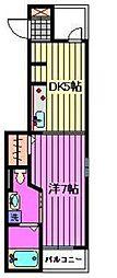セレノ与野鈴谷[1階]の間取り