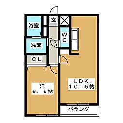 アマービレ中島[3階]の間取り