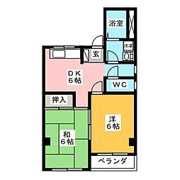 コ−ポ松尾[3階]の間取り