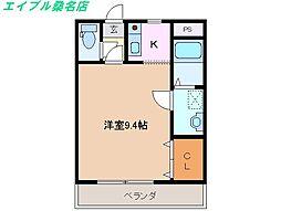 三重県桑名市神成町1丁目の賃貸アパートの間取り