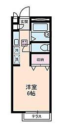 東京都新宿区中落合3丁目の賃貸アパートの間取り