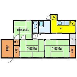 [一戸建] 長野県松本市筑摩4丁目 の賃貸【/】の間取り