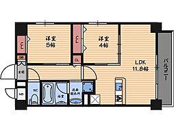 FELIZ VIDA福島[1階]の間取り