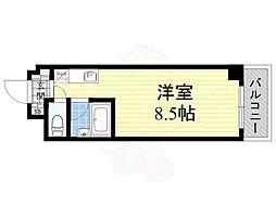 大阪モノレール彩都線 彩都西駅 徒歩30分の賃貸マンション 3階ワンルームの間取り