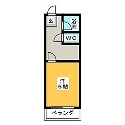 静岡県浜松市中区元目町の賃貸マンションの間取り