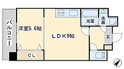 竪町センタービル[607号室]の間取り