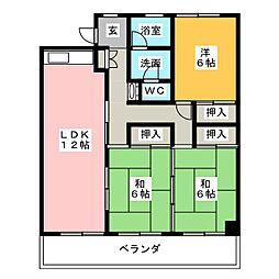 第二富士美ビル[7階]の間取り