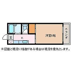 メゾンハタコシ[2階]の間取り