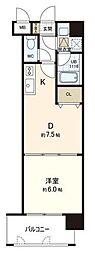 コートハウス槇[8階]の間取り