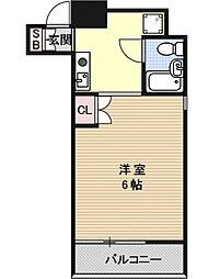 デ・リード京都東洞院[304号室号室]の間取り