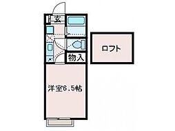 Lapis AP 鶴川(ラピスエーピーツルカワ)[2階]の間取り
