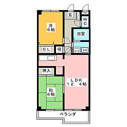 MSコーポ[2階]の間取り