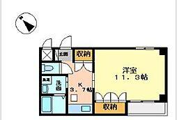 滋賀県彦根市小泉町893-1の賃貸アパートの間取り
