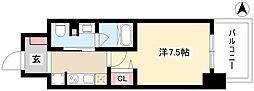 パークアクシス名古屋山王橋 12階1Kの間取り