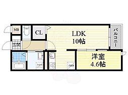 ル・ソレイユ 2階1LDKの間取り