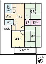 シャトーダン[2階]の間取り