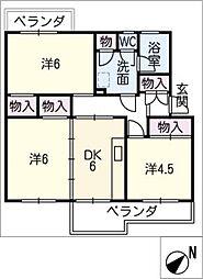 緑苑東住宅6号棟 404号室[4階]の間取り