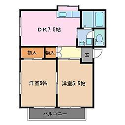 ファミール千代崎 B棟[2階]の間取り