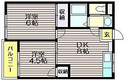 成城3番館[102号室]の間取り