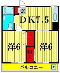 松戸パレス[2階]の間取り