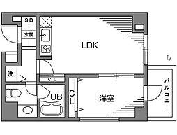 新宿7丁目マンション[0303号室]の間取り