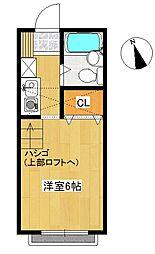 東京都武蔵野市吉祥寺東町3丁目の賃貸アパートの間取り