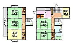 [一戸建] 千葉県千葉市中央区蘇我5丁目 の賃貸【/】の間取り