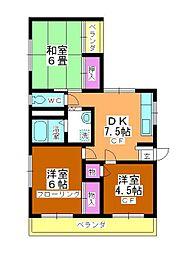 カネカ坂本第3マンション[303号室]の間取り