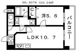 Miki Garden(ミキガーデン) 3階1LDKの間取り