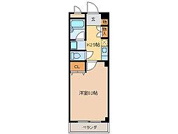 サンハイム駒田[2階]の間取り