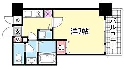 パシフィックレジデンス神戸八幡通[7階]の間取り