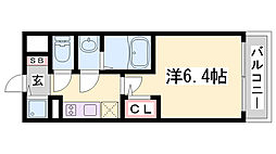 エスリード神戸兵庫駅マリーナスクエア 10階1Kの間取り