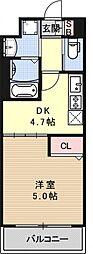 アクアプレイス京都西院[607号室号室]の間取り