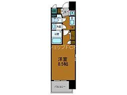 Osaka Metro長堀鶴見緑地線 松屋町駅 徒歩5分の賃貸マンション 2階1Kの間取り