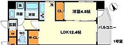 (仮称)プロスパー南吹田 4階1LDKの間取り