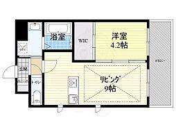 Osaka Metro御堂筋線 江坂駅 徒歩3分の賃貸マンション 8階1LDKの間取り