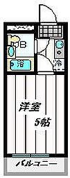 埼玉県さいたま市浦和区常盤3丁目の賃貸マンションの間取り