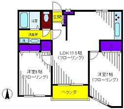 ルフォー[1階]の間取り
