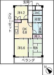 ラクーンハウス[3階]の間取り