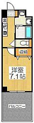 近鉄京都線 東寺駅 徒歩4分の賃貸マンション 1階1Kの間取り
