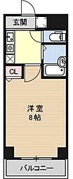 エレガント西院[205号室号室]の間取り