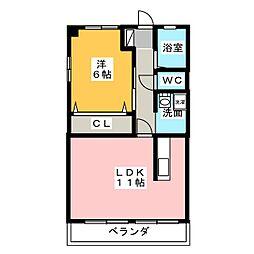 IBハイツ[1階]の間取り
