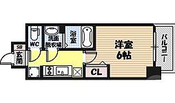 レオンコンフォート京橋イースト 4階1Kの間取り