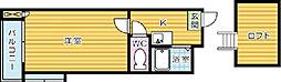 クレジュール8[2階]の間取り